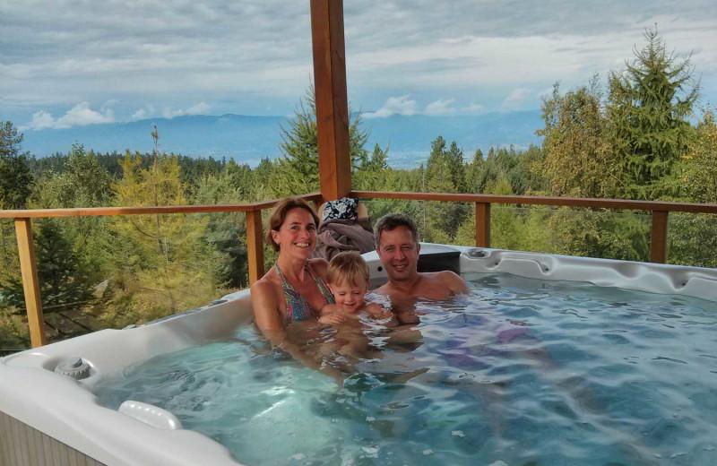 Hot tub at Myra Canyon.
