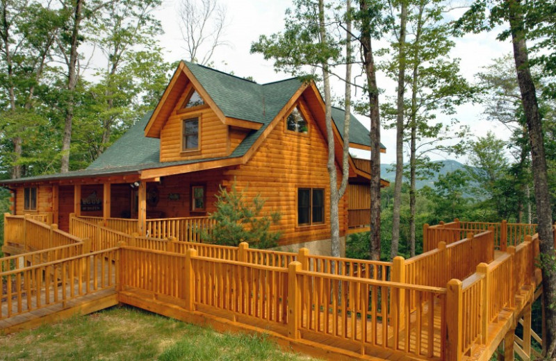 Cabin Exterior at Little Valley Mountain Resort