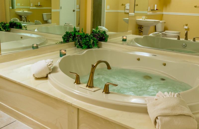 Guest bathroom at Massanutten Resort.