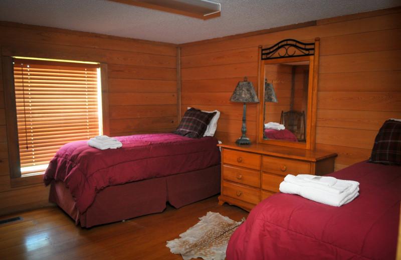 Guest bedroom at Buckhead Ranch.