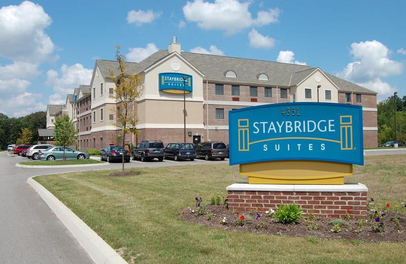 Exterior view of Staybridge Suites Stow.