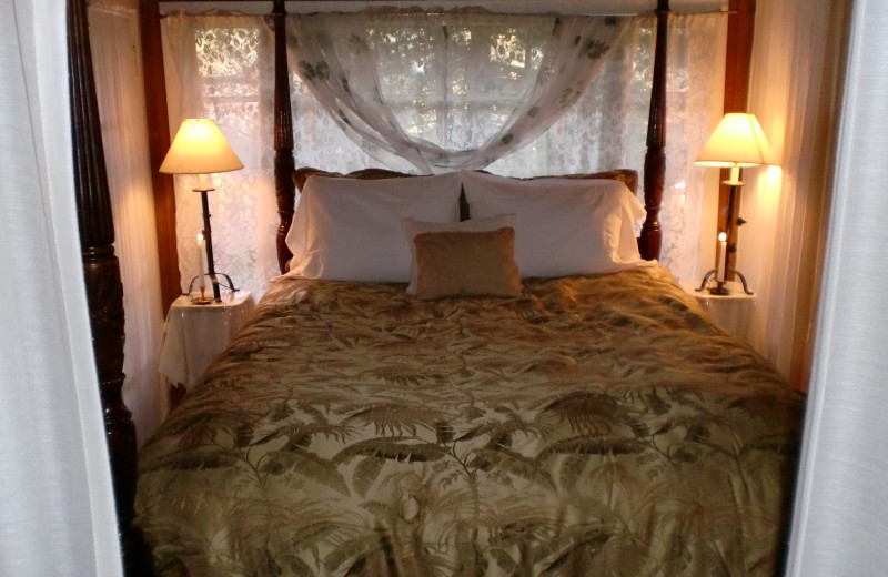 Guest bed at A Calistoga Enchanted Cottage.
