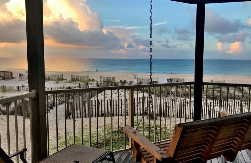 Rental beach view at Bender Realty Vacation Rentals.