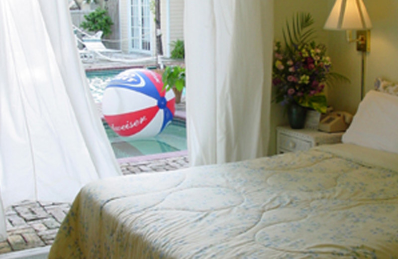 Guest room at New Orleans House.