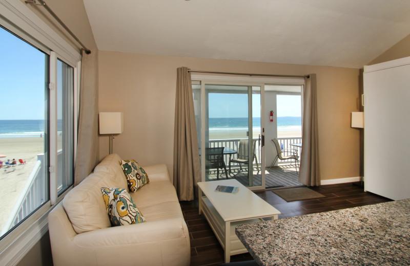 Guest living room at Ocean Walk Hotel.