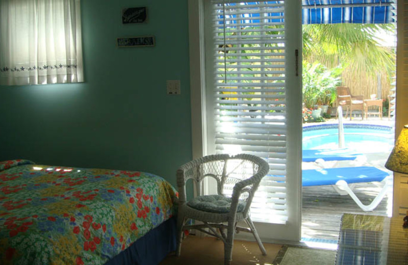 Guest room at Seascape Tropical Inn.
