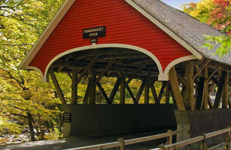 Covered bridge at The Lake House at Ferry Point B&B.