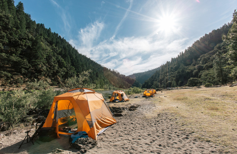 Camping at Morrison's Rogue River Lodge.