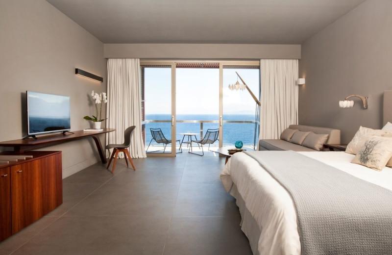 Guest room at Grecotel Elounda Village.