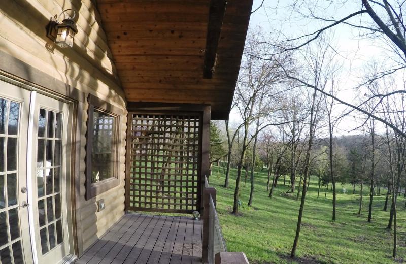Deck view at Morrell Ranch.