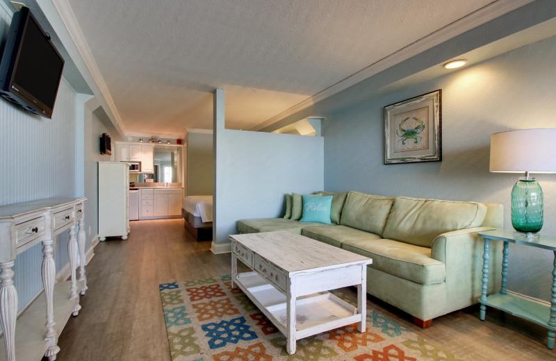 Guest room at Islander Hotel & Resort.