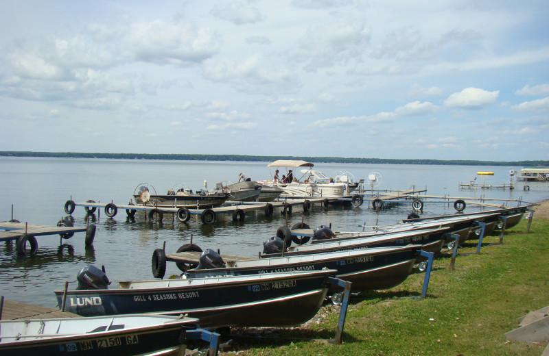 Boats at Gull Four Seasons Resort.