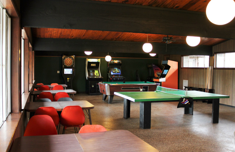 Recreation room at Hawks Landing Resort.
