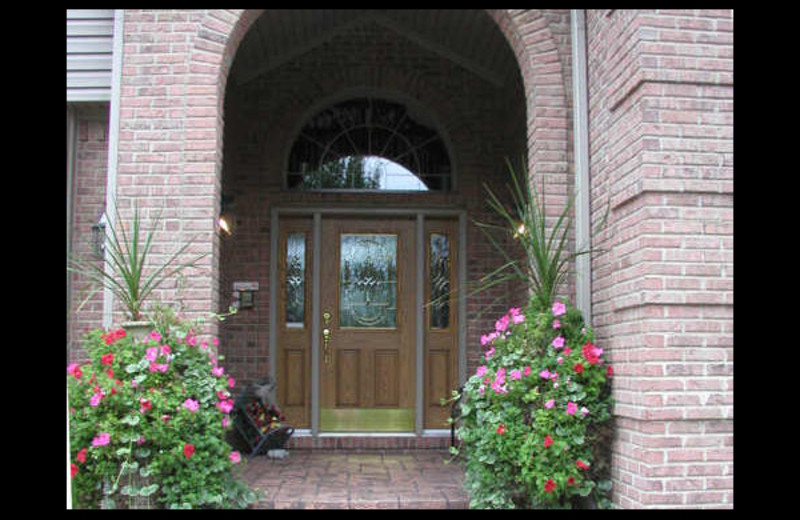 Front door at Canterbury Chateau Bed & Breakfast.