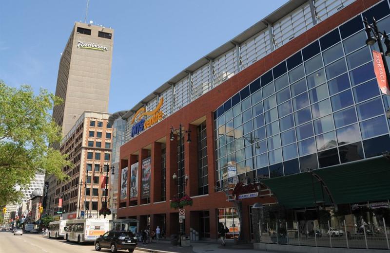Exterior view of Radisson Winnipeg.