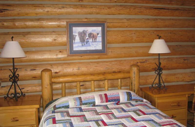 Guest room at Luton's Teton Cabins.