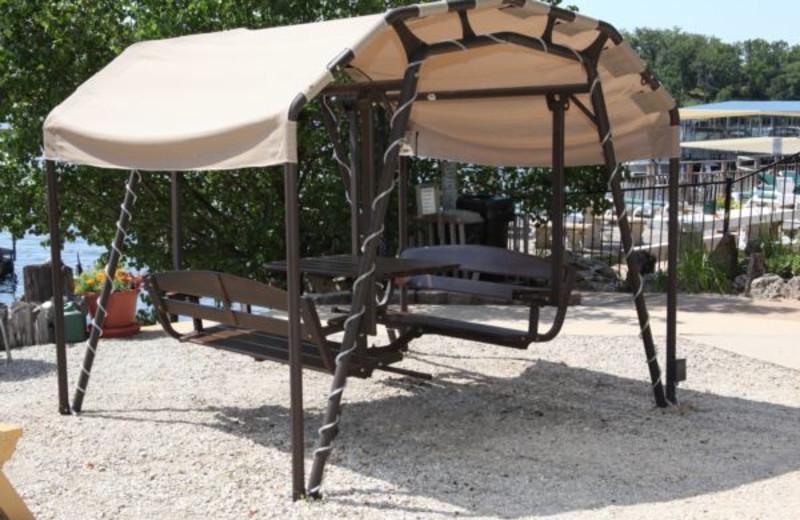 Covered Picnic Table at Summerset Inn Resort