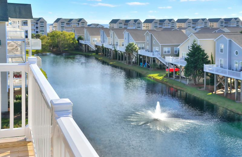 Rental balcony view at Williamson Realty Vacations.