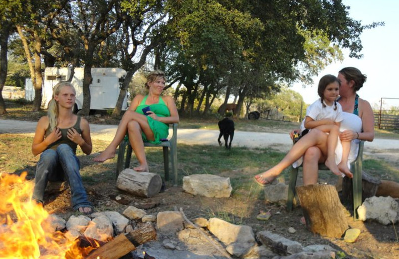 Enjoying a Fire at Sugar & Spice Ranch