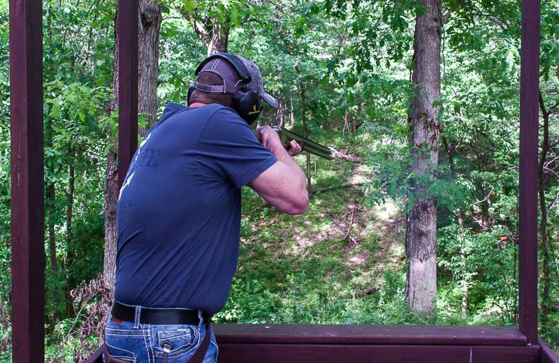 Clay shooting at Harpole's Heartland Lodge.