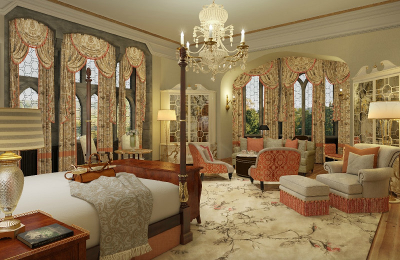 Guest suite at Adare Manor Hotel and Golf Resort.