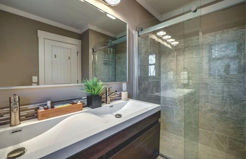 Rental bathroom at StayLakeNorman Luxury Vacation Rentals.
