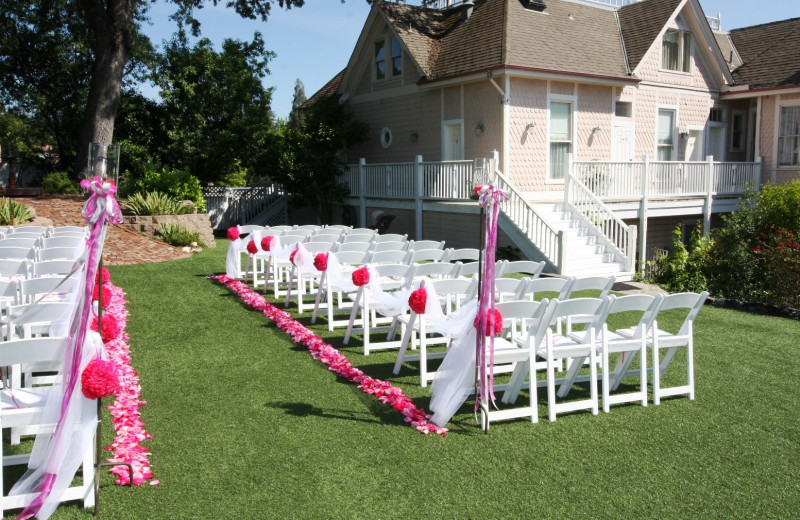 Wedding ceremony at Power's Mansion Inn.