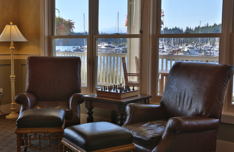 Sitting area at The Resort At Port Ludlow.