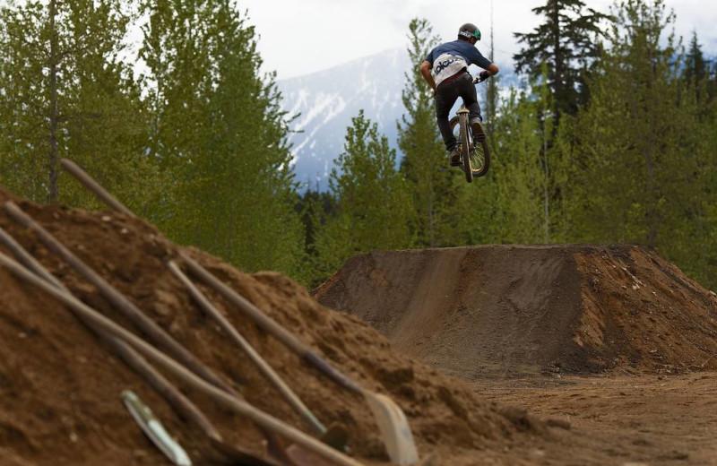 BMX bikes at Glacier House Resort.