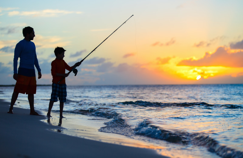Fishing at Beachfront Rentals.