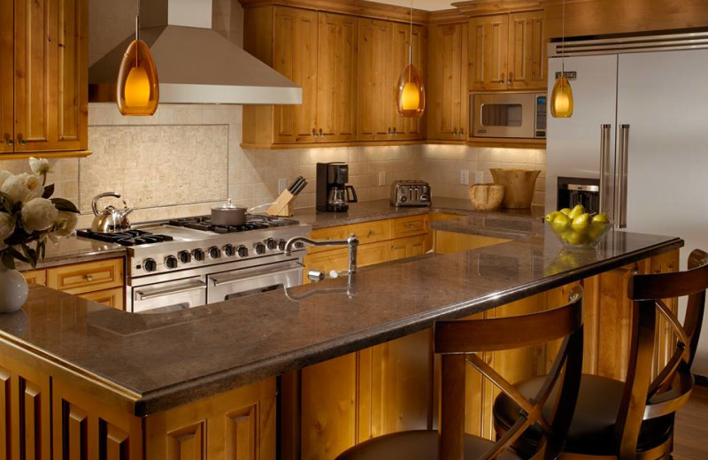 Guest kitchen at Arrabelle at Vail Square.