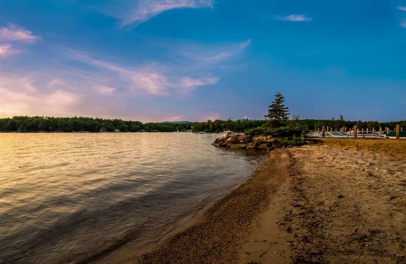 Beach at At The Lake Vacation Rentals.
