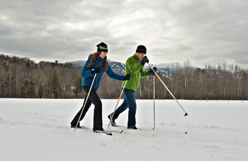 Skiing at Topnotch Resort.