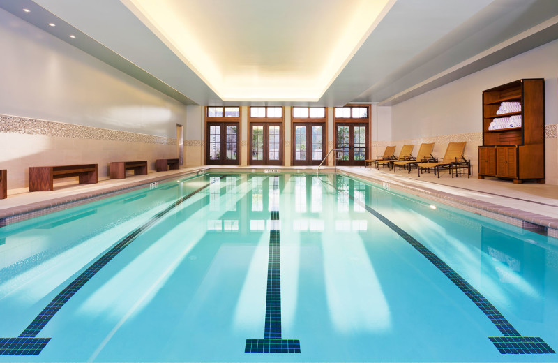 Indoor pool at Salamander Resort & Spa.