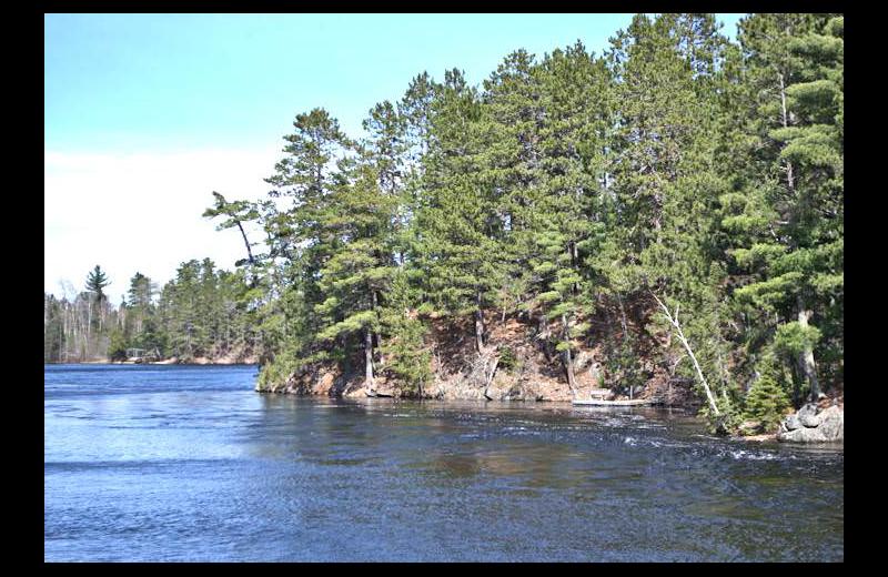 Lake view at Silver Rapids Lodge.