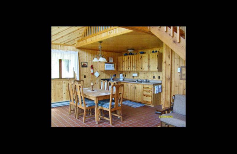 Cabin kitchen at Manilak Resort.