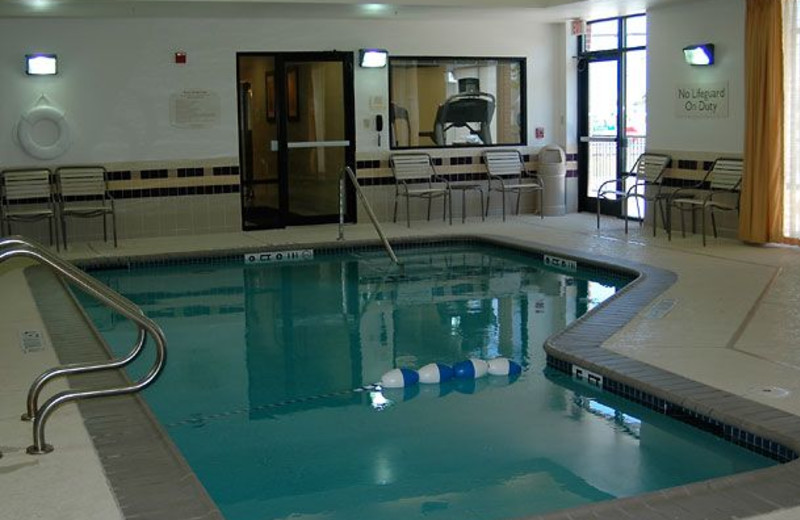 Indoor Pool at the SpringHill Suites Galveston Island