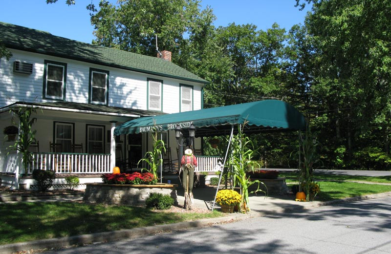 Exterior view of Baumann's Brookside Summer Resort.