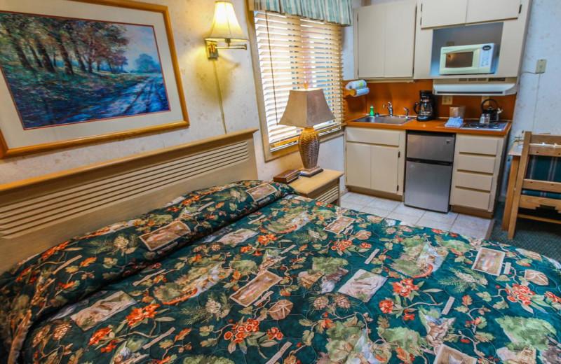 Guest room at Smoketree Lodge.