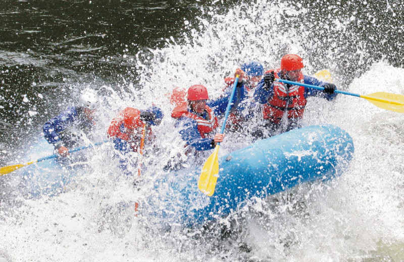 Rafting at The Resort at Paws Up.