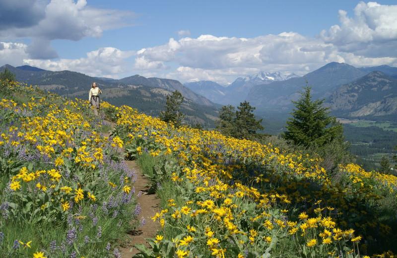 Hiking at Sun Mountain Lodge.
