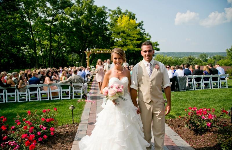 Wedding couple at The Ridge Hotel.