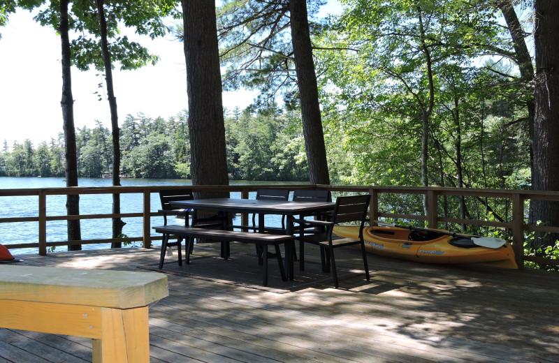 Rental patio at At The Lake Vacation Rentals.