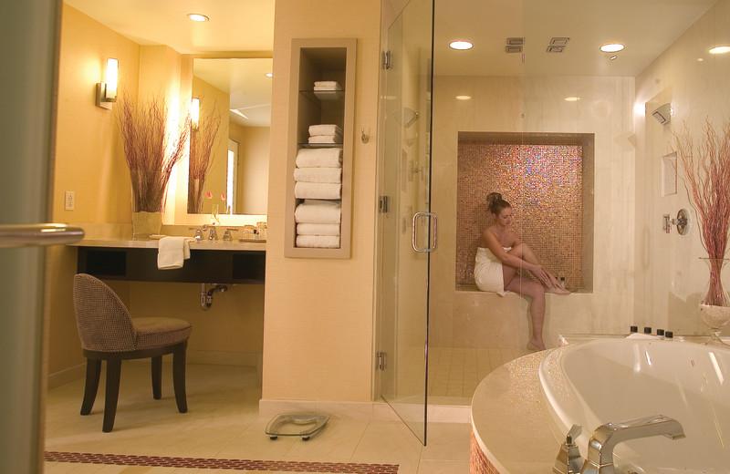 Executive suite bathroom at Agua Caliente Casino Resort.