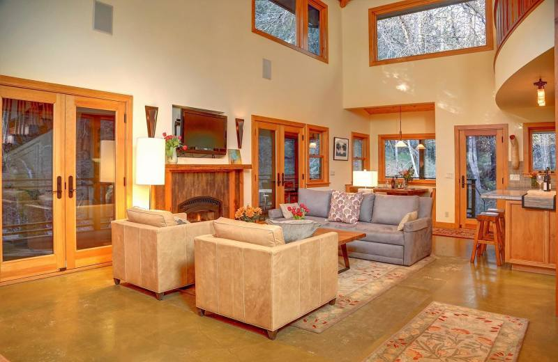 Rental living room at Woodfield Properties.