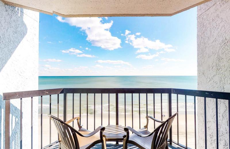 Rental balcony at Affordable Vacation Rentals, LLC.