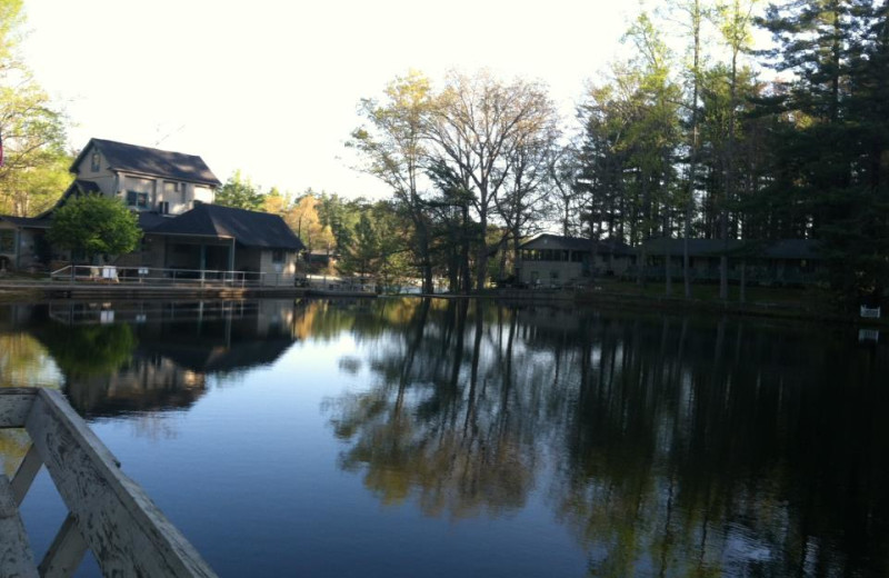 The lake at Mill House Lodge.