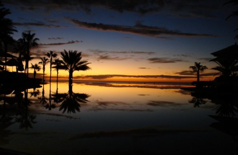 Beautiful sunsets at Hilton Los Cabos Resort.