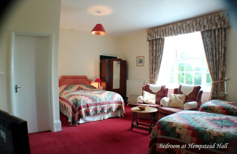 Guest room at Hempstead Hall.