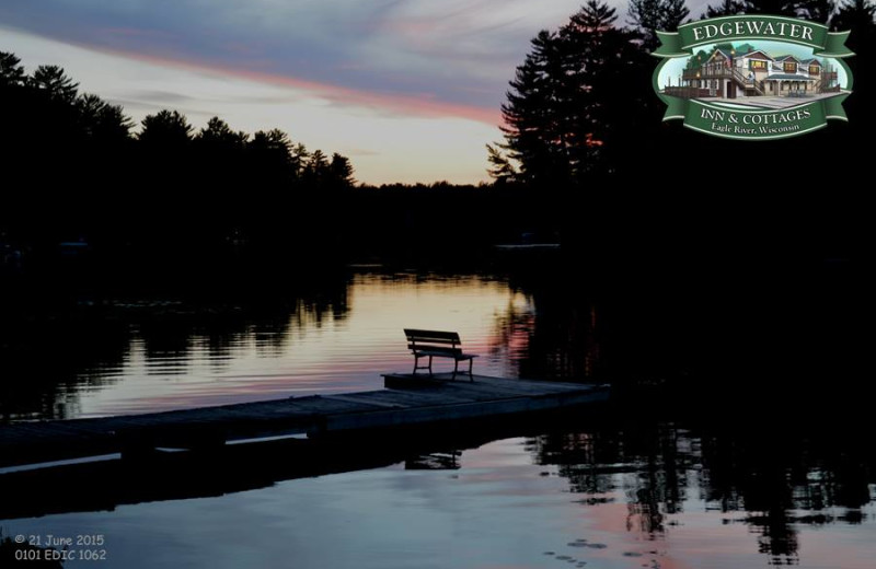 Lake sunset at Edgewater Inn & Cottages.